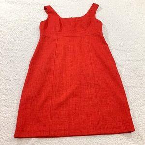 David Meister red sleeveless shift dress a line